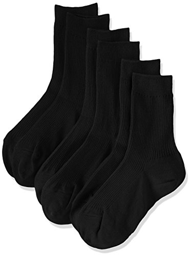 ATSUGI(アツギ) WORK Fit 婦人リブソックス 防カビ 綿100% 〈3足組〉 LB40083 ブラック 24~25cm