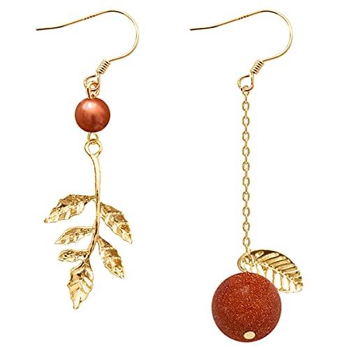 YUXI8541NO Pendientes de hoja de oro vintage pendientes pendientes pendientes pendientes pendientes joyería regalos Bohemia Ear studs