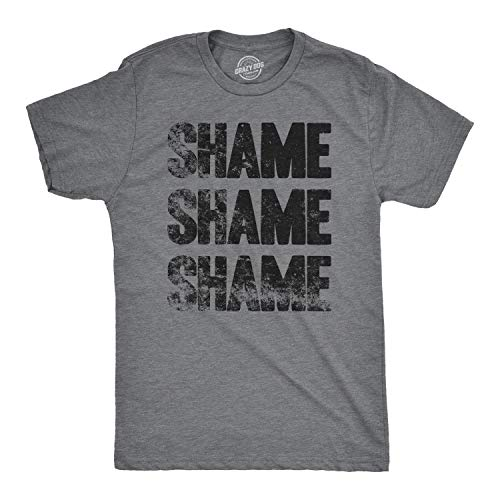 Mens Shame Shame Shame Funny TV Show Quote T Shirt - M Dark Heather Grey