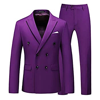 Best purple double breasted suit Reviews