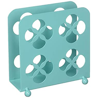Home Basics Trinity Collection Pantryware Organization Set, Turquoise (Napkin Holder)