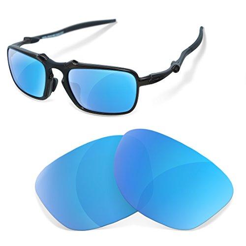 sunglasses restorer Kompatibel Ersatzgläser für Oakley Badman , Polarisierte Ice Blue