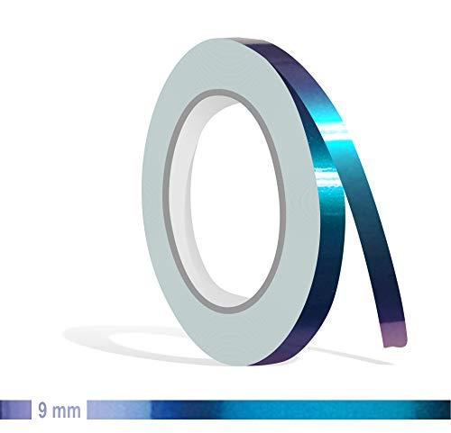 Siviwonder Zierstreifen Shift Effect Marine blau violett Glanz in 9 mm Breite und 10 m Länge Aufkleber Folie für Auto Boot Jetski Modellbau Klebeband Dekorstreifen - Flip Flop Autofolie Farbwechsel