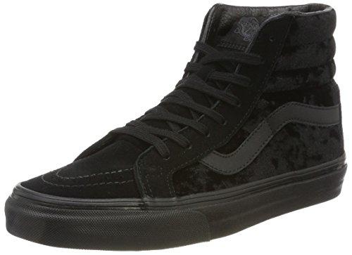 Vans Damen Sk8-hi Reissue Sneaker, Schwarz (Velvet/Black/Black), 36.5 EU