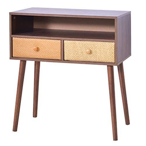 Côté Salon/Mini Coin de Salon/Coin Cabinet, tiroir de Rangement Multicouche en Tissu pour Table de Chevet, Deux étages, 60 × 58,5 × 62,8 cm