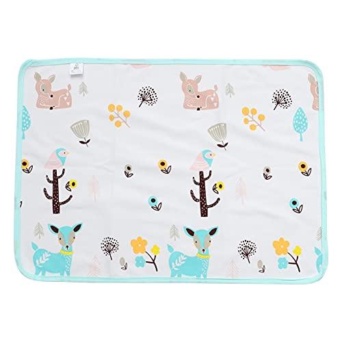 TOYANDONA Cojín Cambiador Reutilizable Lavable de Algodón para Bebés Alfombrilla de Cama de Una Sola Capa Colchón Transpirable Protector Menstrual 50X70cm