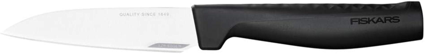 Fiskars Nóż do obierania, Hard Edge, Elegancki design, Długość całkowita: 22,8 cm, Stal nierdzewna/tworzywo sztuczne, 1051762
