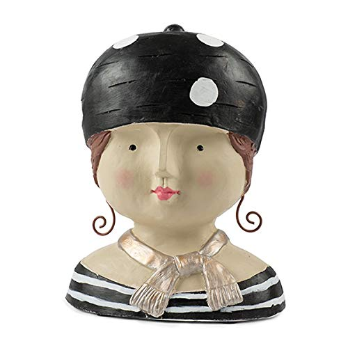 Baden Aufsteller Deko Kopf Ladykopf mit schwarzer Mütze Frauenkopf Kopf Büste