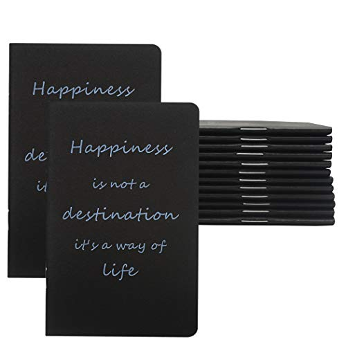 Yansanido 12pcs Pocket Notepads, 3.5''x5.5'' Small Notebooks Journals, Mini Journals Portable Steno Books Mini NoteBooks