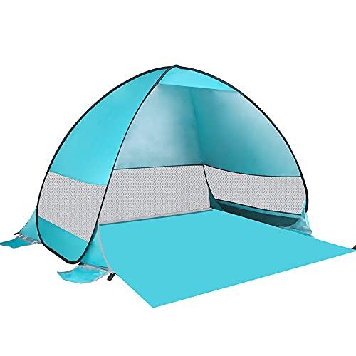 Idefair Auftauchen Strandzelt Sonnenschutz Automatischer Anti-UV-Schatten Wasserdichtes großes Sofortzelt-Outdoor-Campingzelt für Kinder und Erwachsene,Familien,Strand,Camping