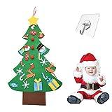 kungfu Mall Árbol de Navidad de Fieltro para niños, árbol de Navidad DIY de 3.2 pies con 26 Piezas de Adornos para niños pequeños Decoración de la Pared de la Ventana de la Puerta del hogar