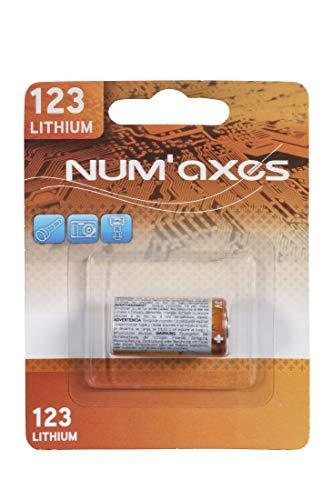 Num'axes - Pila de Litio de 3 V CR 123a