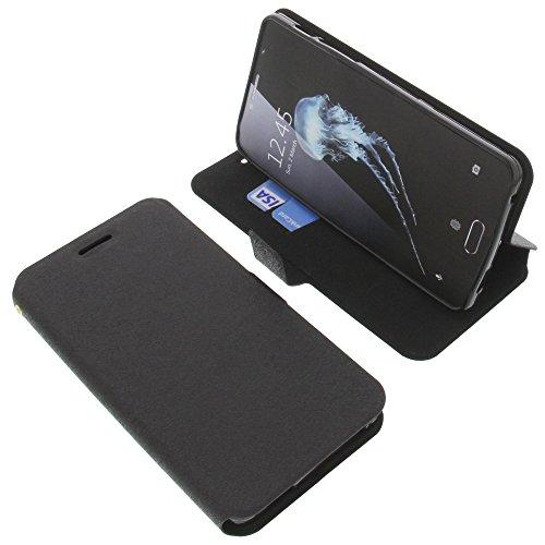 foto-kontor Tasche für Alcatel Flash Plus 2 Book Style schwarz Schutz Hülle Buch