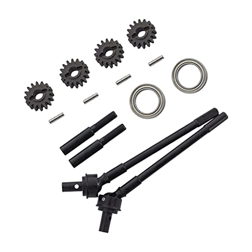 hndfhblshr RC Spare Parts Accessory Aluminum Alloy Axle Drive Shafts Compatible with Axial SCX10II 90046 RC Car Model Trunk ( Size : Front )