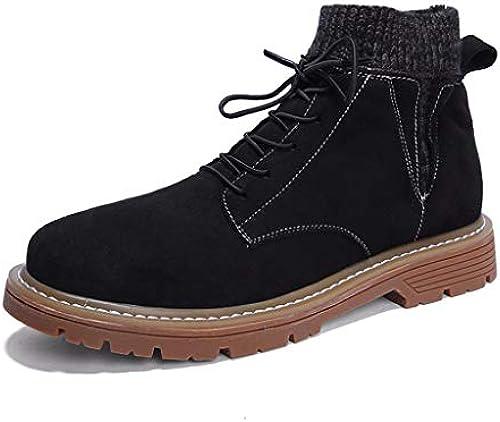 ChengxiO [Single Cotton Optional] Freizeitschuhe Herrenschuhe Herrenschuhe Herrenschuhe Hohe Schuhe Martin Stiefel Herren Outdoor Sports Schuhe Student Board Schuhe (Farbe   schwarz Plus Velvet, Größe   40)  Neue Auflistung