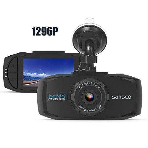 SANSCO PRO Car Dash Camera, 2K 1296P 50% Higher Resolution Than 1080p, HD Dashboard Camera for Cars...