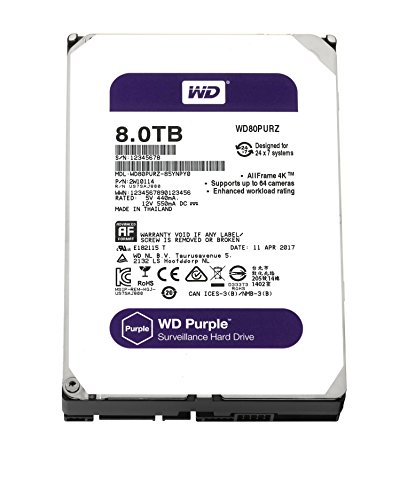Western Digital Purple - Disco duro interno de 8 TB (Serial ATA...