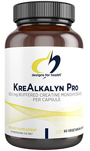 Designs for Health KreAlkalyn Pro - Buffered Creatine Monohydrate Pills - Support Performance + Recovery - Non-GMO Supplement Designed to Help Minimize Common Creatine Side Effects (60 Capsules)