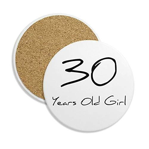DIYthinker 30 jaar oud meisje leeftijd keramische onderzetter Cup mok houder absorberende steen voor dranken 2 stks Gift