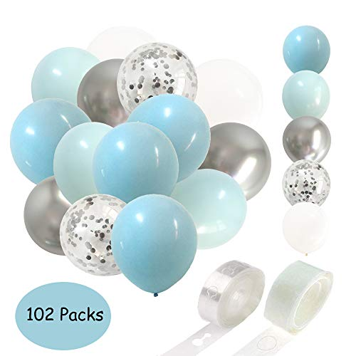 light blue baby decorations - 7