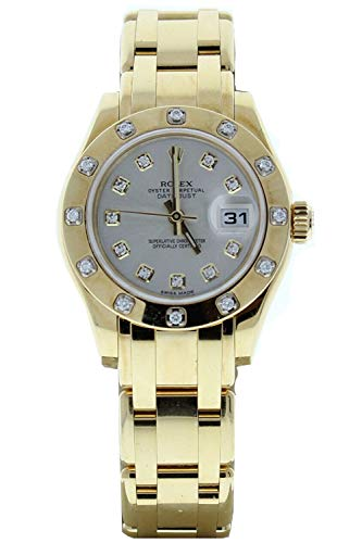 Rolex-18k-Yellow-Gold-Ladys-Masterpiece-80318-Silver-Diamond-Dial-12-Diamond-Bezel-Certified-Preowned