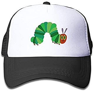 AUCAMP The Very Hungry Caterpillar Trucker Hat Adjustable Back Mesh Cap for Adult Black