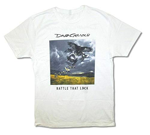 David Gilmour Album Cover Rattle That Lock Tour 2016 Adult White T Shirt New