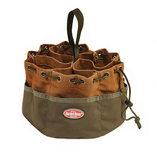 Bucket Boss Parachute Bag Small Parts Bag in Brown, 25001