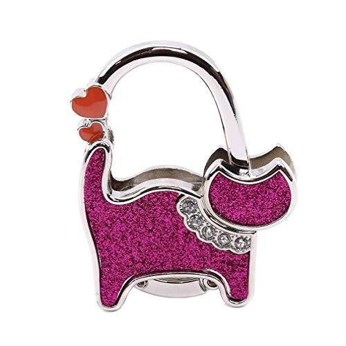 SEVENHOPE Mini Süß Katze Folding Aufhänger Halter Tischhaken für Handtasche Handtasche Dienstprogramm (Stil 4)
