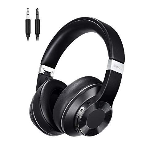 Bluetooth Kopfhörer Over Ear - Tekutue Noise Cancelling Kopfhörer Kabellos HiFi Stereo Bluetooth5.0 Wireless Headset Mit Cvc8.0 Mikrofon, 30 Std Spielzeit, Faltbar -Für Videokonferenzen/Ios/Pc