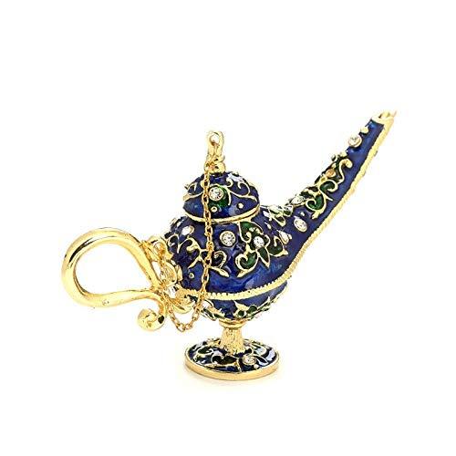 mengrui Lámpara mágica artesanales de Metal Allah decoración Retro Hueco Que Desea la lámpara de Rusia Sala Regalo Aladdin lámpara, Halloween, Metal, Ornamentos,
