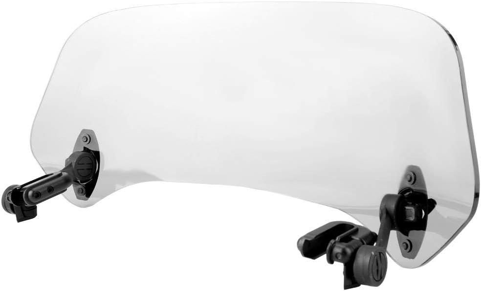 Parabrezza for moto Colore : Smoked Deflettore aria parabrezza universale for parabrezza modificato for moto