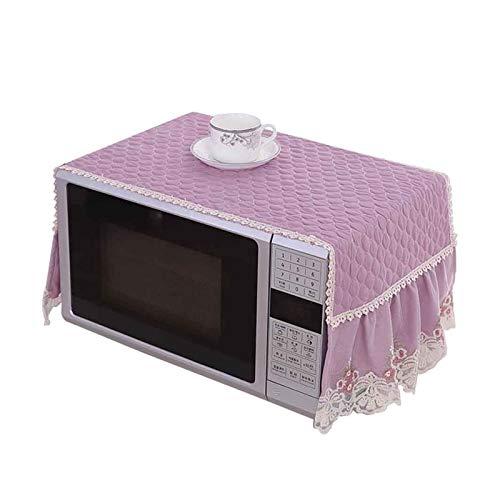 JINAN Housse de protection en dentelle brodée pour micro-ondes - Accessoires de décoration anti-poussière - Serviette résistante à l'huile (couleur : violet)
