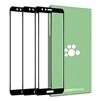 Huawei Honor 7X Tempered Glass Screen Protector- 3 Pack  Clear Anti-glare Ultra-thin 9H Silk Print Protective Film For Huawei Honor 7X BND-AL10 BND-TL10 / Mate SE BND-L34 5.93 inch