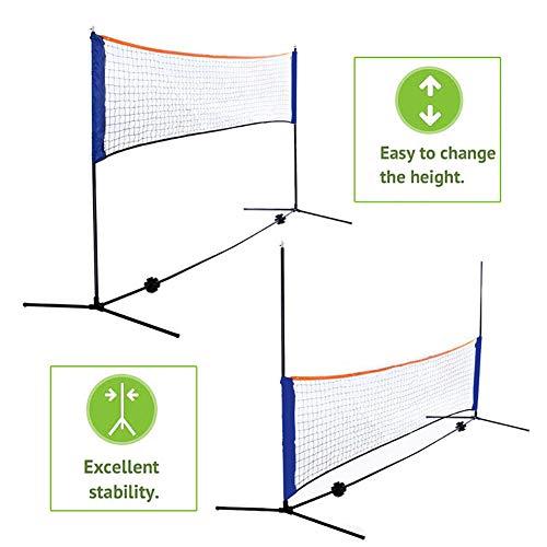 TYX Tragbares Tennisnetz Multifunktional Standard Verstellbar Faltbares Tennis-Badmintonnetz Für Die Gartenauffahrt Backyard Beach,5M