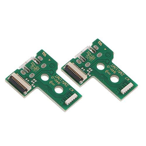 SM SunniMix pacote com 2 soquetes para porta de carregamento micro USB JDS-030 para controle Sony PS4 Dualshock 4