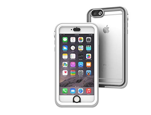 Waterproof case for iPhone 6 Plus, Shock Proof, Drop Proof by Catalyst for iPhone 6+ with High Touch Sensitivity ID (White & Mist Gray)