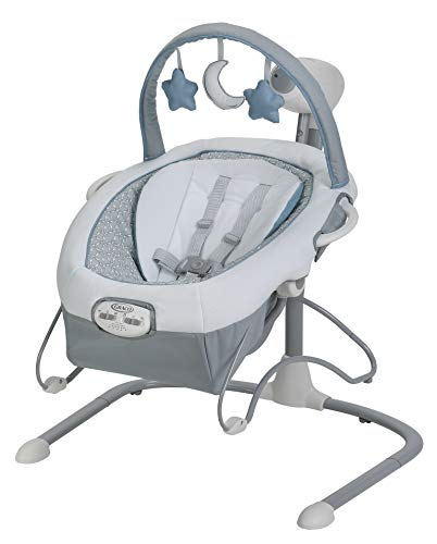 4moms rockaRoo - Compact Baby Swing, Baby Rocker with Front to Back Gliding Motion, Classic Nylon Fabric - from The Makers of The mamaRoo