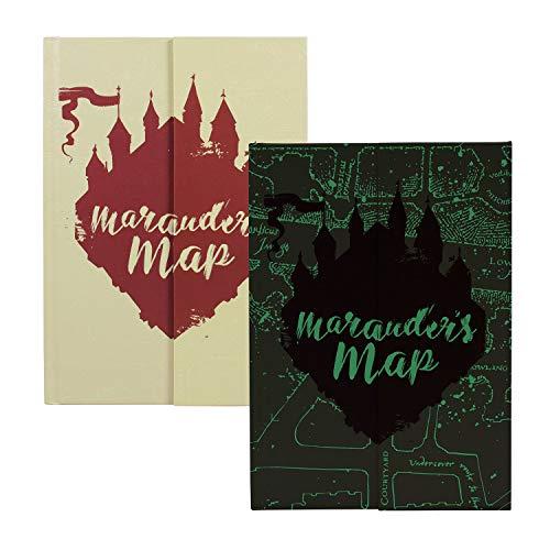 Gamesland, Quaderno A5 Harry Potter, Mappa di Marauders 'Glow in the Dark', Beige