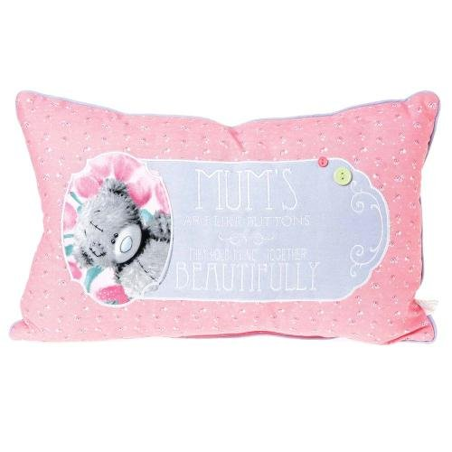 Me to You Rose Gris Tatty Teddy 'mamans sont comme des boutons.Coussin Oreiller