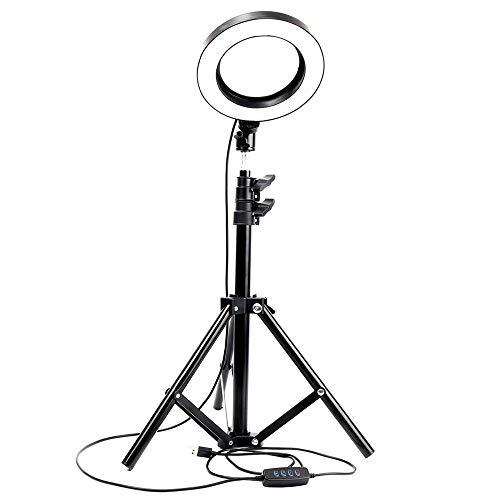 Asta per Selfie, Anello dimmerabile, Lampada a LED, Anello per Fotocamera da Studio, Telefono Fotografico con Luce, Lampada per Luce Video, con Anello