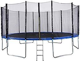 Outdoor Sports Garden Trampoline with Safety Enclosure