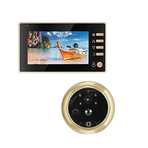 Timbres de puerta y campanas inteligente electrónico ojo de gato video Timbres de puerta inalámbrico casero libre Punch Cámara HD visión nocturna espejo puerta