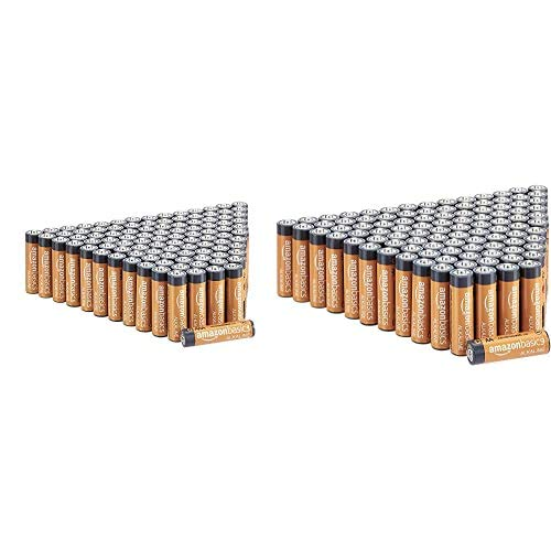 AmazonBasics - Pilas alcalinas AAA de 1,5 voltios, Gama Performance, Paquete de 100 (el Aspecto Puede Variar) + AmazonBasics - Pilas alcalinas AA de 1,5 voltios, Gama Performance, Paquete de 100 (el