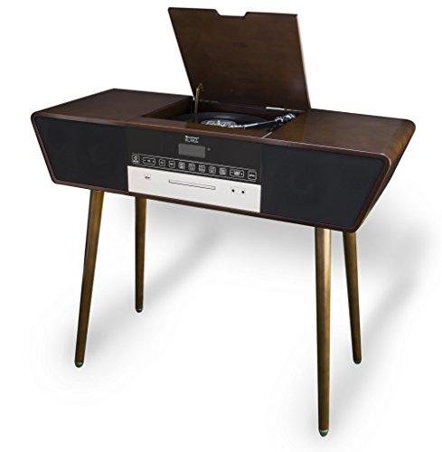Soundmaster Elite Line Braun Plattenspieler (manuell, braun, 33,45 U/min, 33,45 U/min, digital, extern)