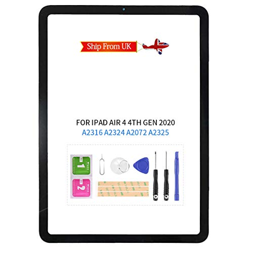 Front Glass For iPad Air 4 4th Gen Air4 2020 A2324 A2072 A2325 Outer Glass LCD Panel Lens Replacement Repair Parts Kits (Not Touch Screen Digitizer)