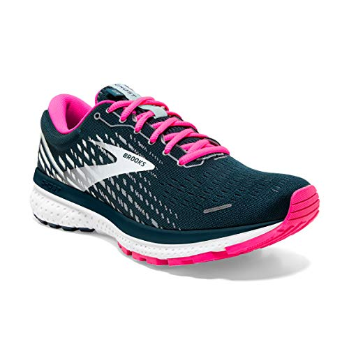 Brooks Women's Ghost 13 Running Shoe, Reflectivepond Pink Ice, 6.5 UK