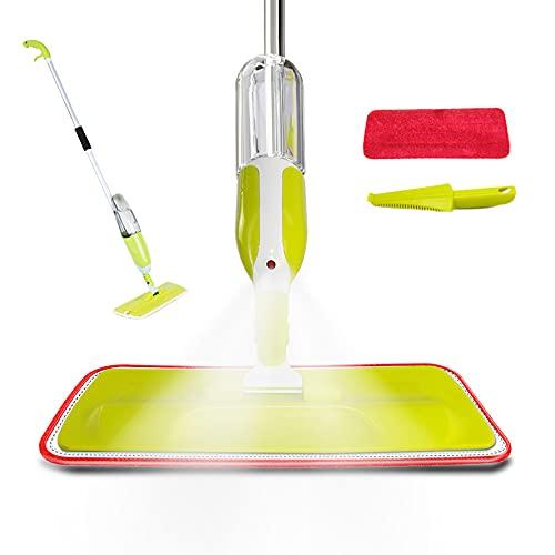 Mopa Fregona. Mopa con Vaporizador. Spray Mop. Mopas para Limpiar el Hogar, Cocina, Suelo, con Botella Recargable y Almohadillas. Rotación de 360° para la Limpieza del Hogar