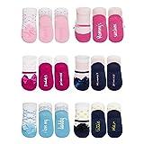 soxo calcetines para Bebé Niñas Bailarina, 6 Pares, de algodón | Talla 16-18 | calcetines de colores divertidos, 0-12 meses