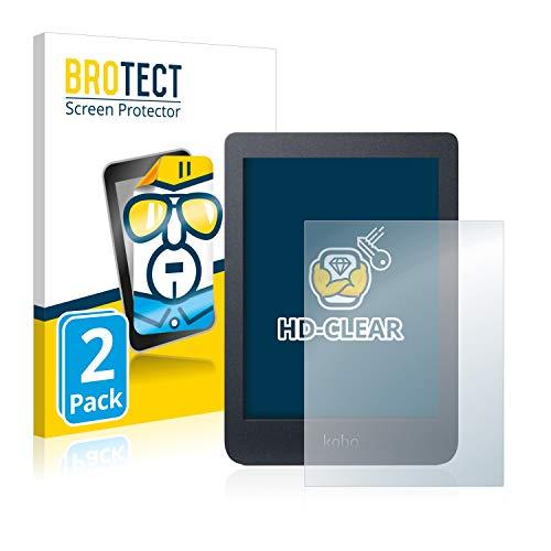 BROTECT 2x Schermbeschermer compatibel met Kobo Nia Screen protector transparant